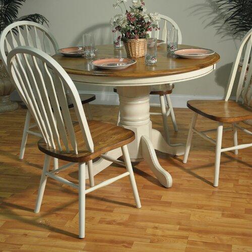 Country Farmhouse Single Pedestal Table