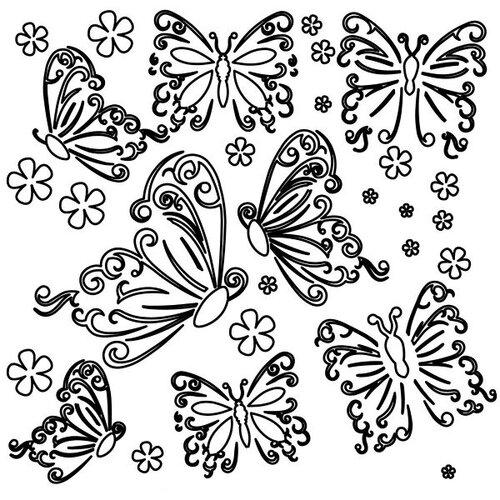 The Crafter's Workshop Butterflies Template