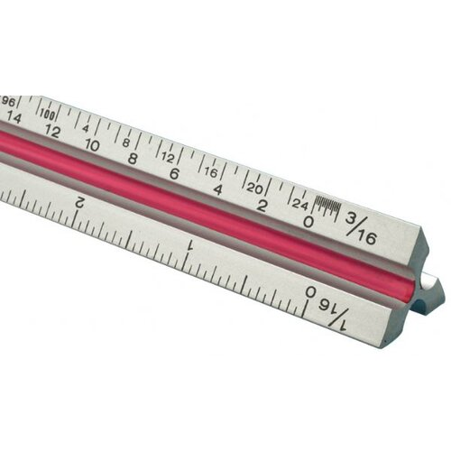 Fairgate T Series Aluminum Triangular Architect Scale Ruler