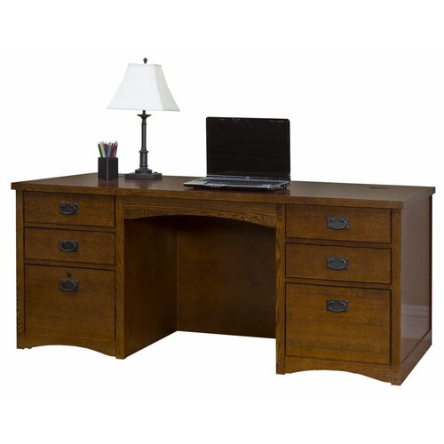 Califormia Bungalow Double Pedestal Executive Desk