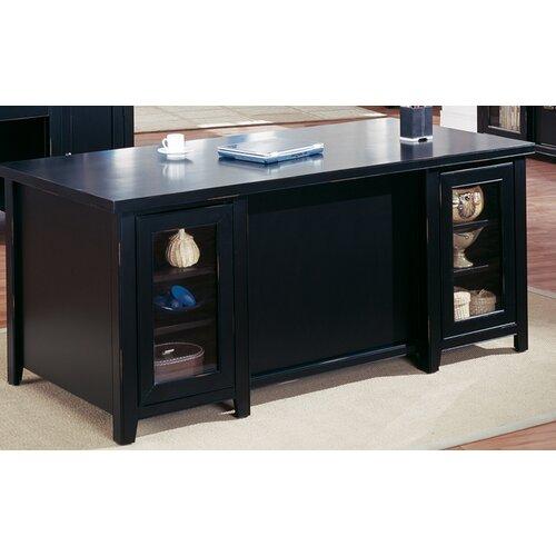 kathy ireland Home by Martin Furniture Tribeca Loft Double Pedestal Executive Desk