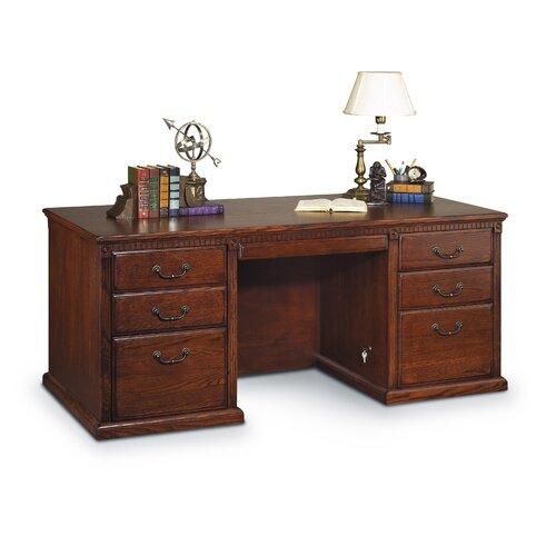 kathy ireland Home by Martin Furniture Huntington Oxford Double Pedestal Executive Desk
