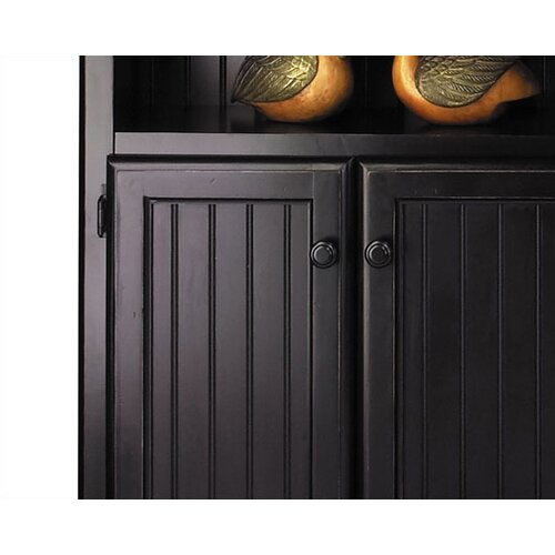"""kathy ireland Home by Martin Furniture Southampton Onyx Lower Door 73"""" Bookcase"""