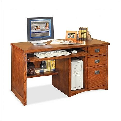 kathy ireland Home by Martin Furniture Mission Pasadena Deluxe Computer Desk
