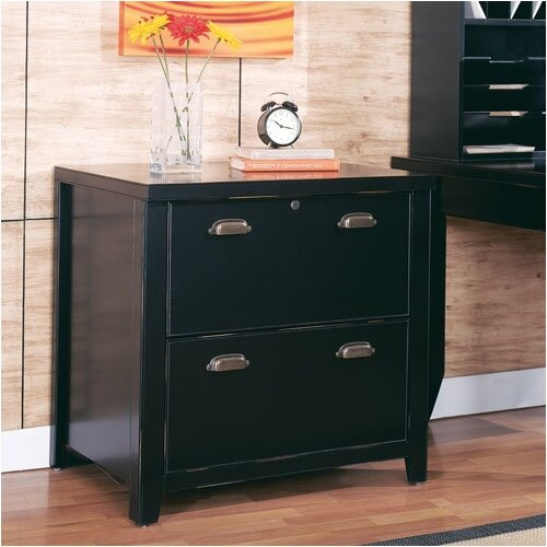 Tribeca Loft Black 2-Drawer File