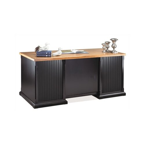 kathy ireland Home by Martin Furniture Southampton Onyx Double Pedestal Executive Desk