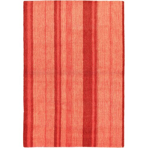 Luribaft Gabbeh Riz Pink Striped Rug