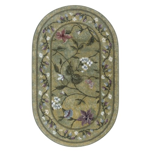 Brumlow Mills Butterfly Golden Green Rug