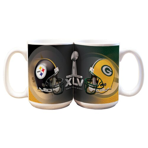 The Memory Company NFL 2011 Super Bowl 15 oz. Dueling Coffee Mug