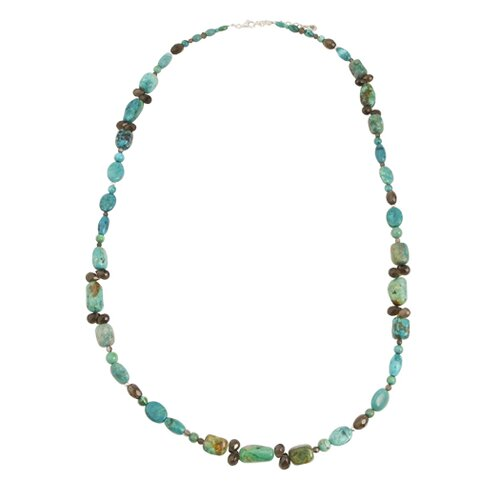 Basic Metal Single Strand Beaded Necklace