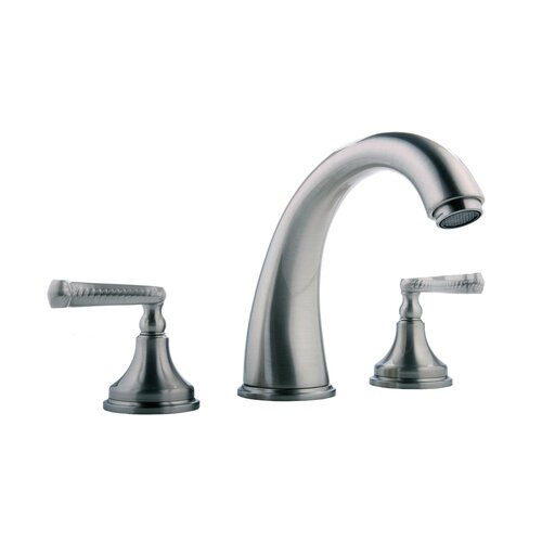 Meridian Double Handle Deck Mount Roman Tub Faucet Trim with Lever Handle