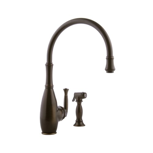 Meridian One Handle Single Hole Kitchen Faucet with Spray