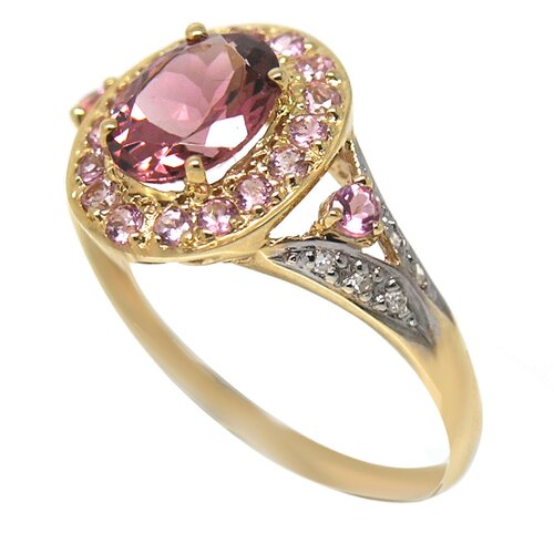 Genuine Yellow Gold Oval Cut Tourmaline Ring