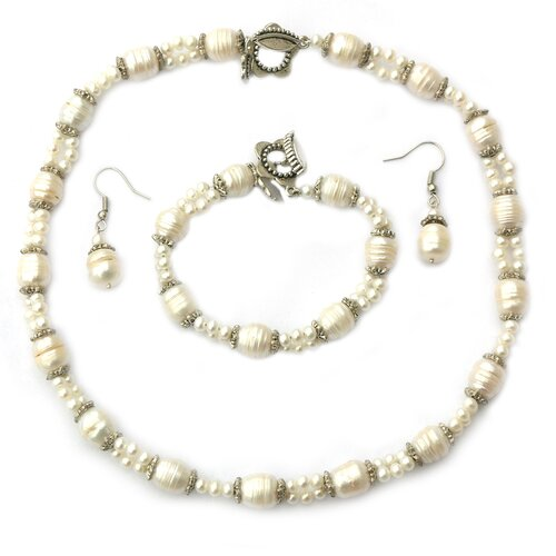 3 Piece Cultured Pearl Jewelry Set
