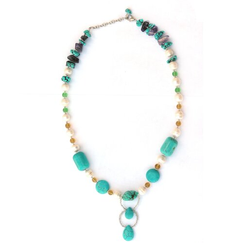 Gemstone and Cultured Pearl Necklace