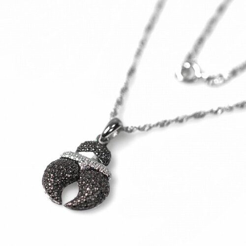 DeBuman Sterling Silver Diamond Necklace