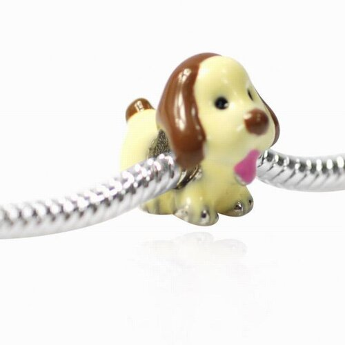 DeBuman Enamel Dog Fashion Charm Bead