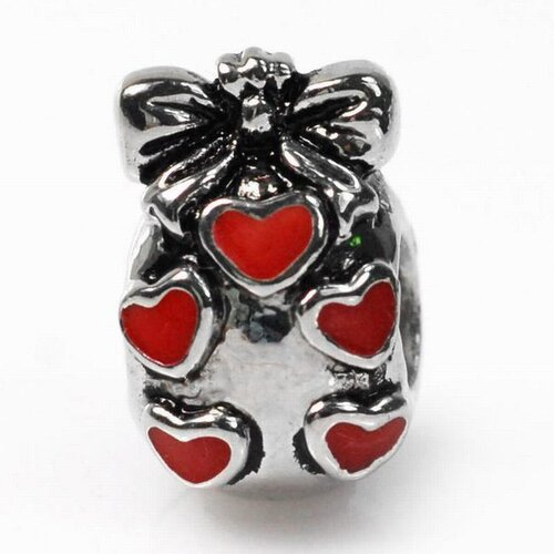 DeBuman Enamel Heart Fashion Charm Bead