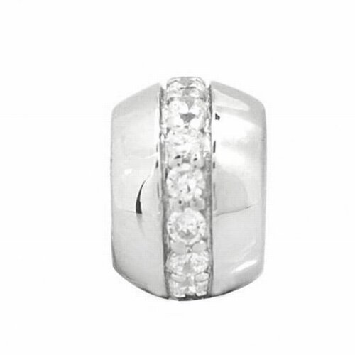 DeBuman Sterling Silver Zircon Charm Bead