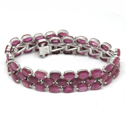 Natural Ruby Tennis Bracelet
