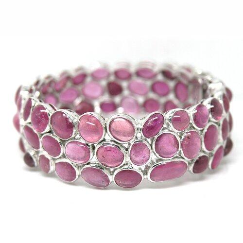 Natural Ruby Bangle Bracelet