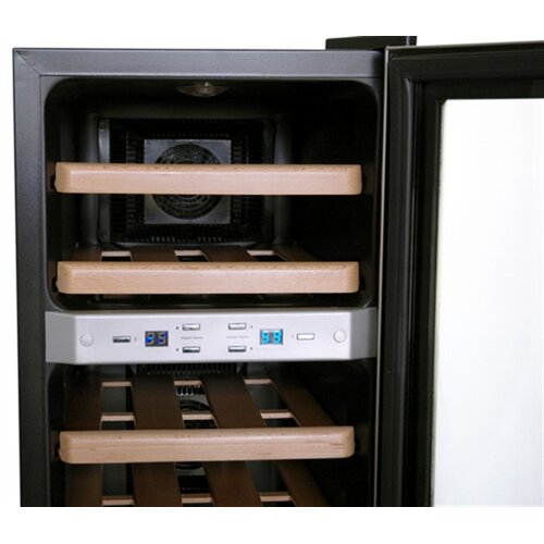 NewAir 21 Bottle Dual Zone Thermoelectric Wine Refrigerator