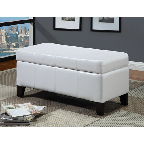 Modus Furniture Urban Seating Leatherette Bedroom Storage Ottoman