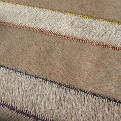 Pure Rugs Patchwork Cowhide St. Etienne Wheat Rug