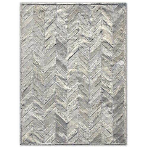 Patchwork Cowhide Yves Ivory Rug