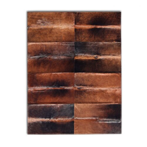 Patchwork Cowhide Oak Normand Rug