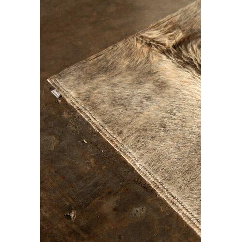 Pure Rugs Patchwork Cowhide Oak Exotic Zebu Rug