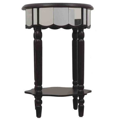 Mirrored End Table
