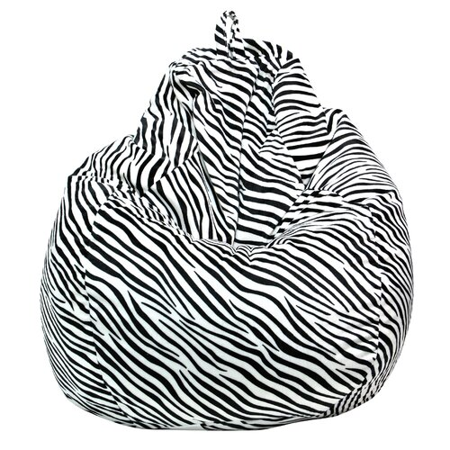 Gold Medal Bean Bags Tear Drop Zebra Safari Bean Bag Lounger