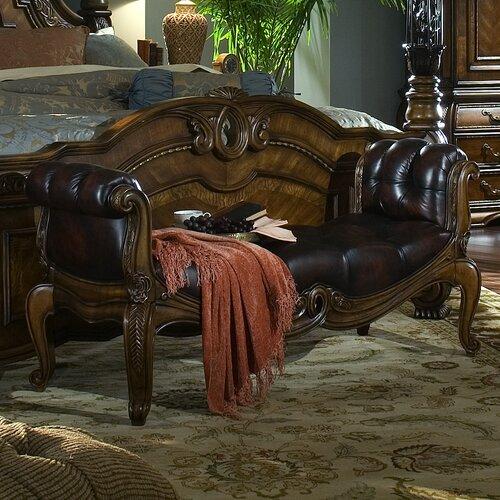 Michael Amini Oppulente Wooden Bedroom Bench