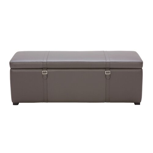 Voyager Bonded Leather Storage Bench