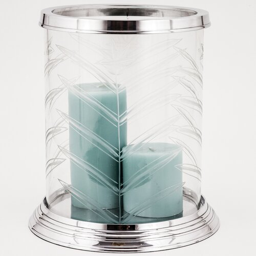 Fashion N You by Horizon Interseas Hampton Fern Cut Glass Hurricane