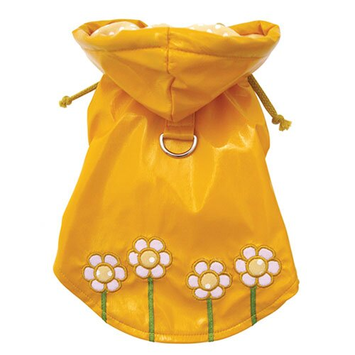 Klippo Pet Polka Dots and Daisy Dog Raincoat