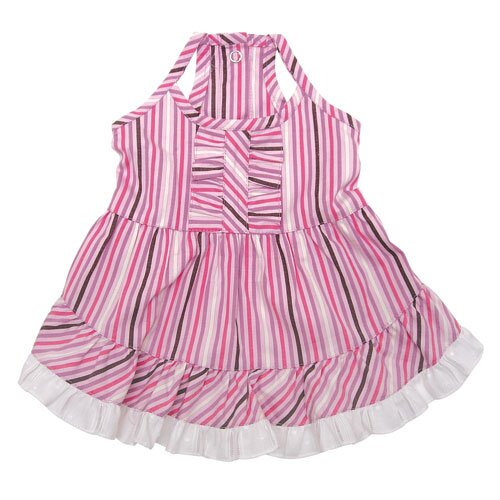 Elegant Smart Stripes Picnic Dog Dress