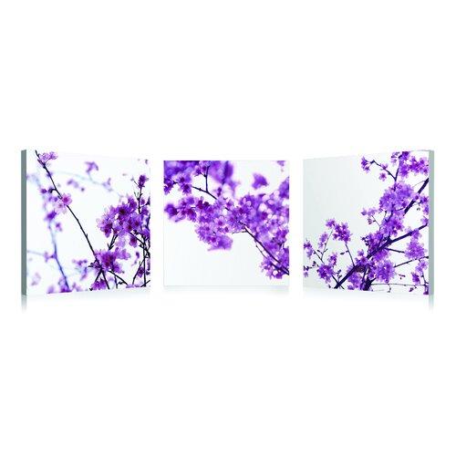 Purple Branches 3 Piece Photographic Print Set