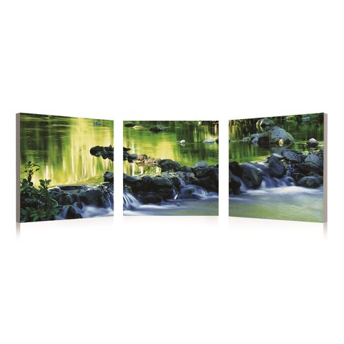 River And Rocks 3 Piece Photographic Print Set