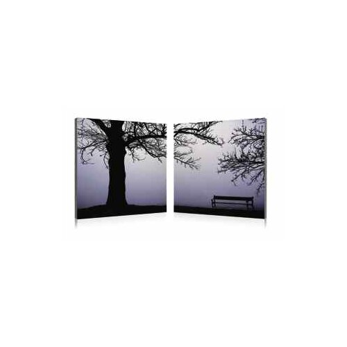 Lonely Bench 2 Piece Photographic Print Set