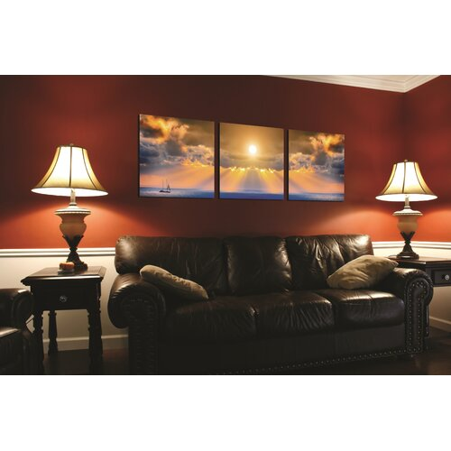 Artistic Bliss Sunset 3 Piece Photographic Print Set
