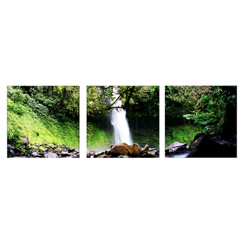 Artistic Bliss Waterfalls 3 Piece Photographic Print Set