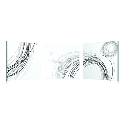 Artistic Bliss Abstract Circles 3 Piece Graphic Art Set