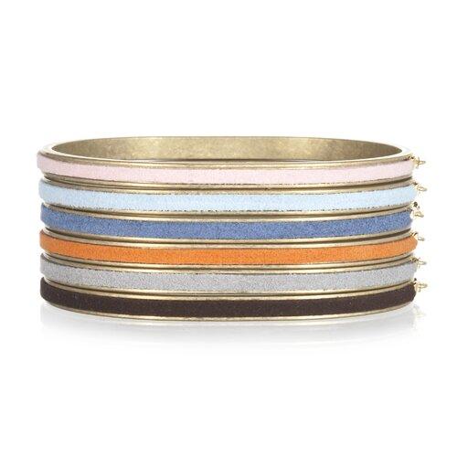 White Oak Suede Vicki Bangle Bracelet