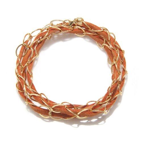 White Oak Suede Tara Triple Wrap Bracelet