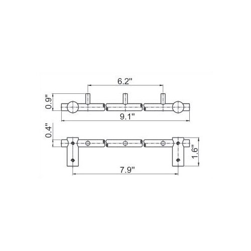 Empire Industries Tempo Wall Mounted Triple Hook