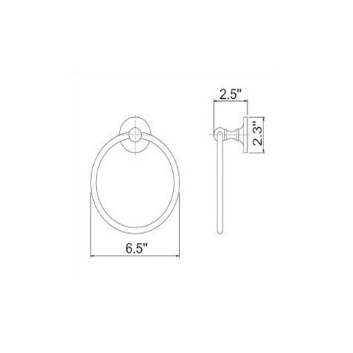 Empire Industries Carlton Wall Mounted Towel Ring