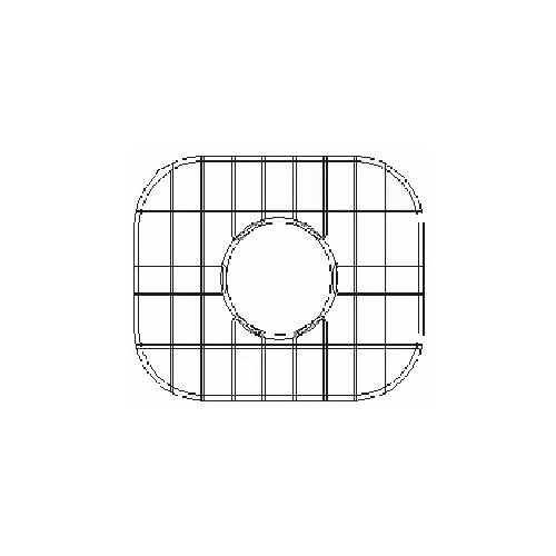 "Empire Industries 28"" x 17"" Sink Grid for Undermount Round Single Bowl Kitchen Sink"