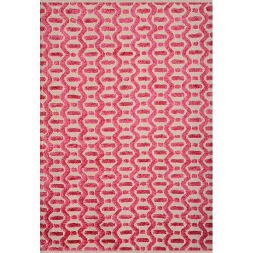 Atlas Farrington Pink/Ivory Geometric Rug